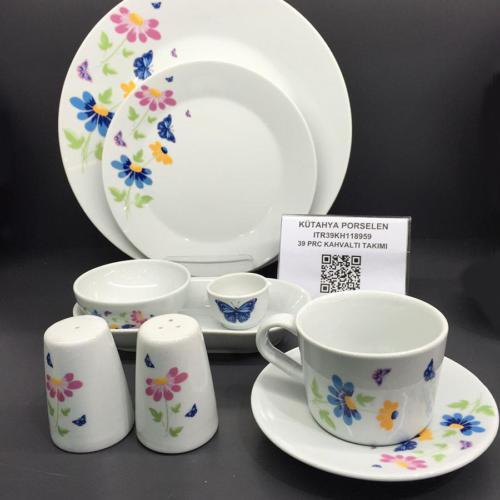 Kütahya Porselen Itır 39 Parça 8959 Kahvaltı Takımı