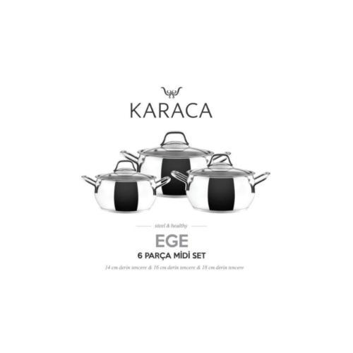 Karaca Ege Midi Çelik Set 6 Parça