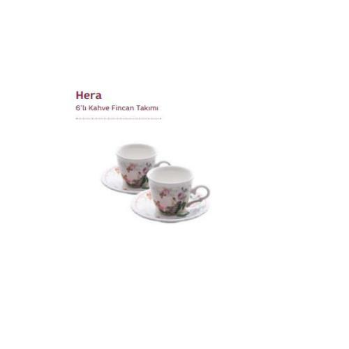 Emsan Hera 6'Lı Kahve Fincan Seti