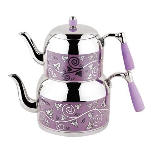 Özkent 386 Armine Desenli Mini Çaydanlık Lila