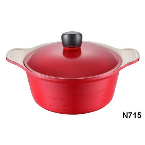 NEVA N715 Sweet Ceramica Kırmızı Derin Tencere 24 Cm