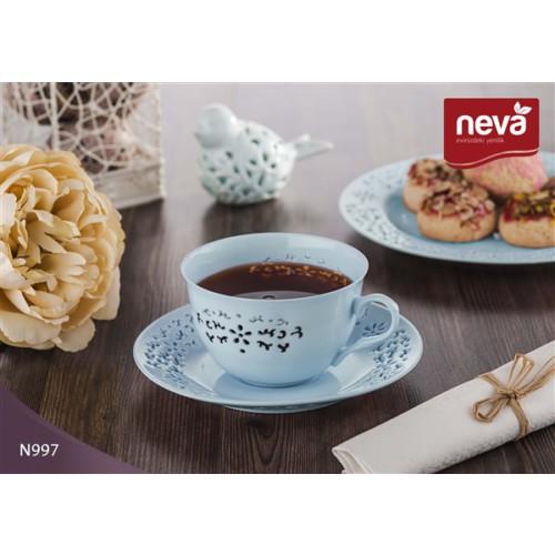 NEVA N997 Daisy Dantel S 12 Parça Çay Takımı Turkuaz