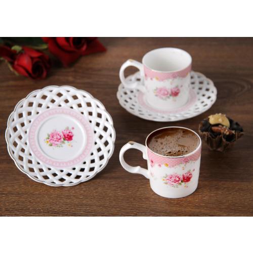 Gönül Porselen Porselen 2Li Kahve Seti