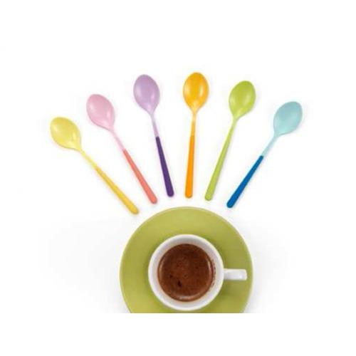 I Love Home Renkli Kahve Kaşığı Seti