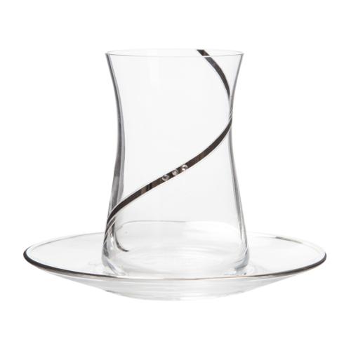 Laliano Alisa Altın Çay Takımı (6 Çay Bardağı + 6 Çay Tabağı )