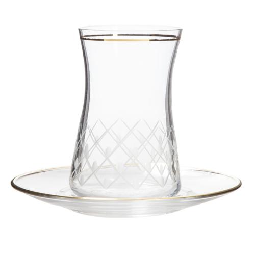 Laliano Lips Çay Takımı (6 Çay Bardağı + 6 Çay Tabağı )