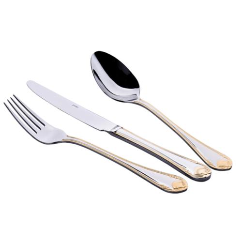 Porio 91 Parça Altın Çatal Kaşık Bıçak Set - Paslanmaz Çelik
