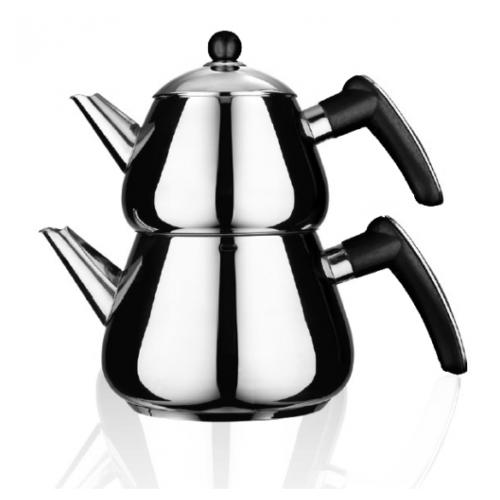 Emsan Bravo Çaydanlık Takımı Siyah
