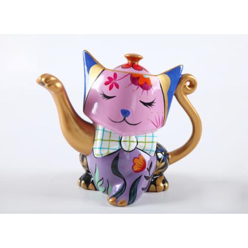 Fidex Home Kedi Şekilli Porselen Demlik