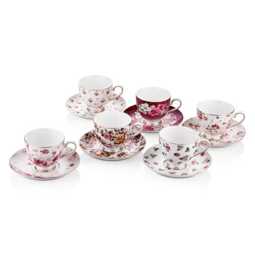 Cemile Minik Çiçekli 6 Lı Çay Fincanı (6)