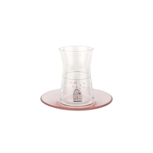 Tantitoni 12 Parça Kafes Desenli Çay Bardağı Takımı