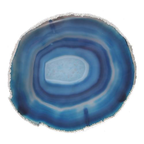 Gümüş Mavi Sunum Tabağı