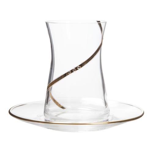Laliano Alisa Altın Çay Tabağı