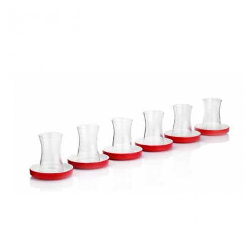 Karaca Sefa 6 Lı Çay Bardak Takımı Kırmızı