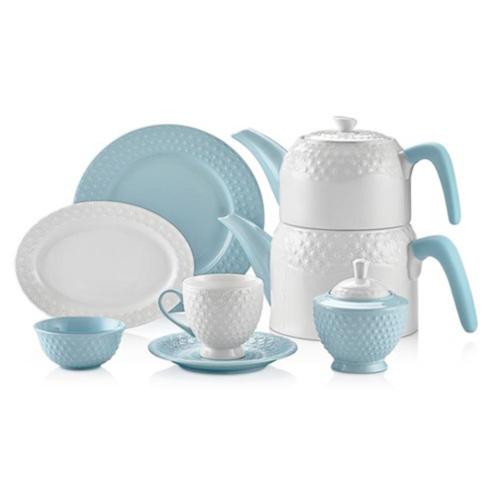 Schafer Eden Collection 34 Parça Kahvaltı Takımı Mavi