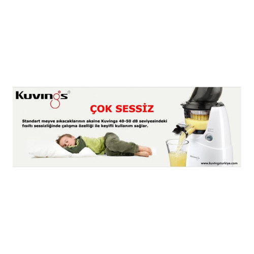 Kuvings C7000W-Whole Slow Juicer Coldpress Katl Meyve ve Fiyatl