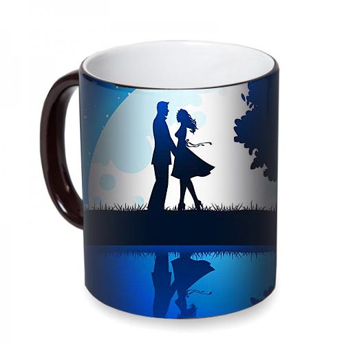 Fotografyabaskı Gece Aşıklar Sihirli Siyah Kupa Bardak Baskı