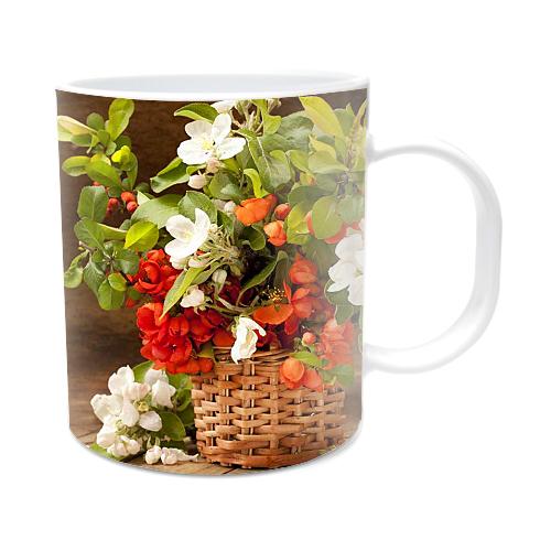 Fotografyabaskı Ağaç Çiçeği Beyaz Kupa Bardak Baskı