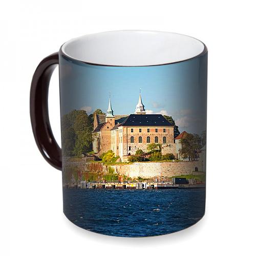 Fotografyabaskı Akershus Oslo Sihirli Siyah Kupa Bardak Baskı