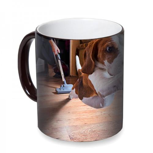 Fotografyabaskı Köpek Sihirli Siyah Kupa Bardak Baskı