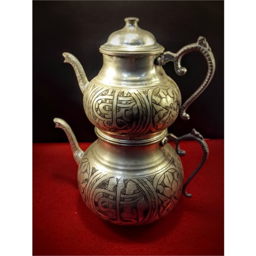 Sonay Bakırcılık Bakır Eskitme İşlemeli Çaydanlık