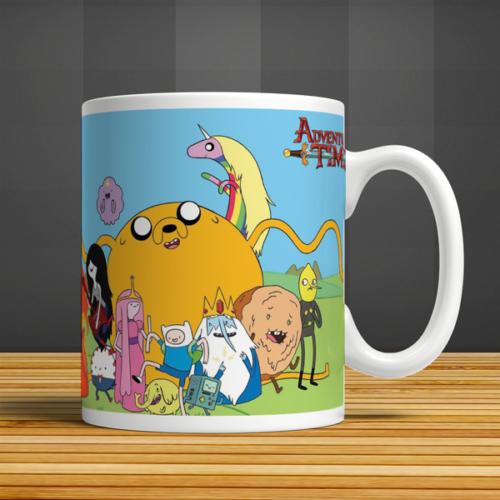 İf Dizayn Adventure Time Baskılı Kupa Bardak