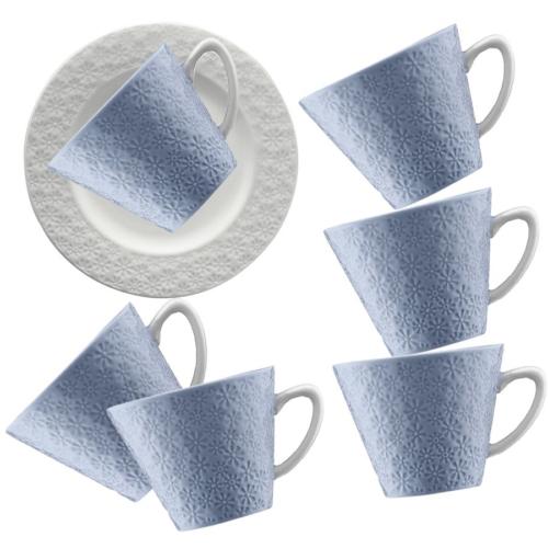 Kütahya Porselen 12 Parça Kahve Takımı Mavi