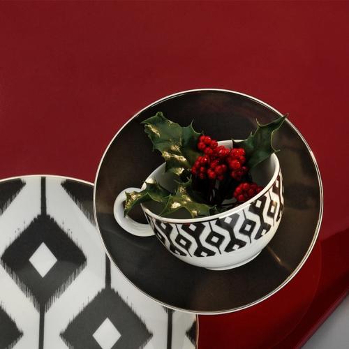 Kütahya Porselen 12 Parça Kahve Takımı Siyah