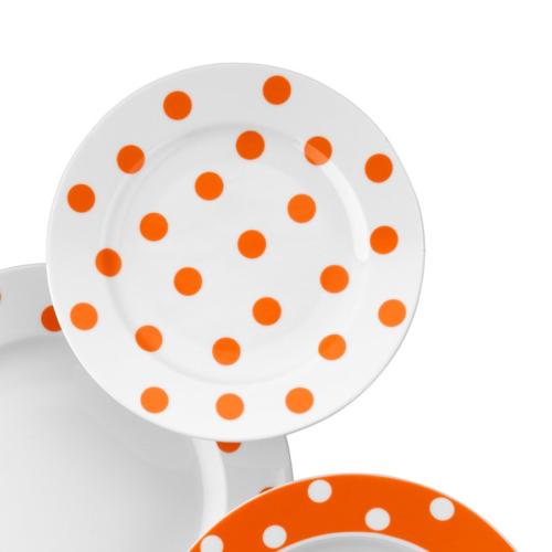 Kütahya Porselen 21 Cm Düz Tabak Turuncu