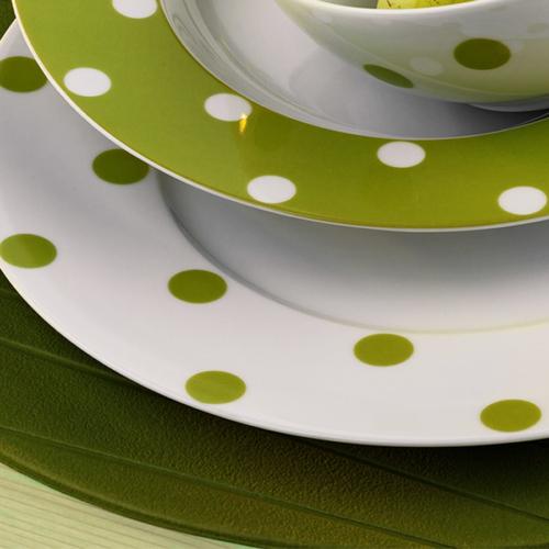Kütahya Porselen 27 Cm Düz Tabak Yeşil