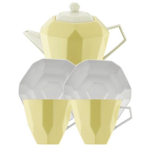 Kütahya Porselen 6 Parça Çay Seti Sarı