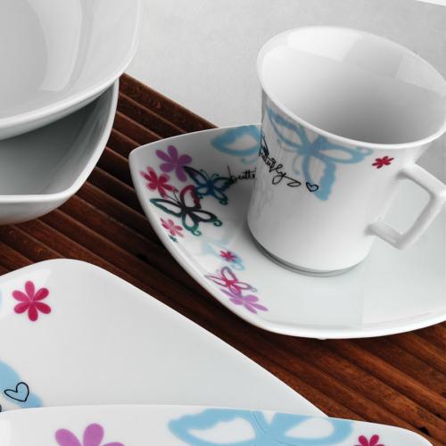 Kütahya Porselen Medusa 12 Parça 6711 Desen Çay Takımı