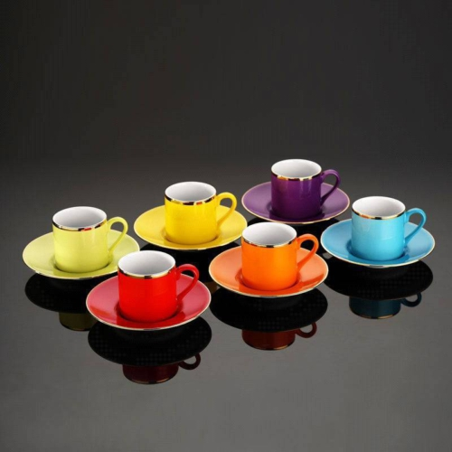 Kütahya Porselen Rüya Renkli Kahve Fincan Takımı