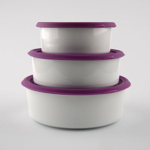 Kütahya Porselen Saklama Kabı Setı Mor