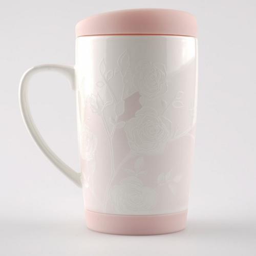 Kütahya Porselen Slikon Kapaklı Mug Bardak