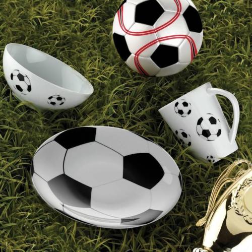 Kütahya Porselen Team Game Football Tek Kişilik Yemek Seti