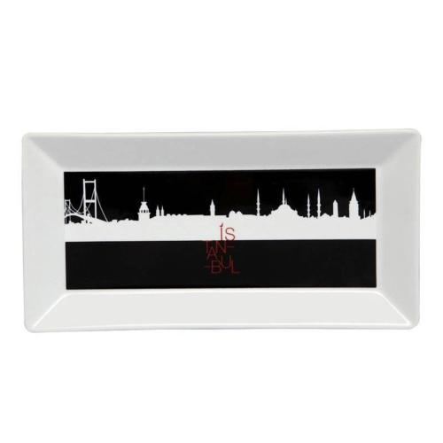 Kütahya Porselen Perge 25395 Dekor 24 Cm İstanbul Tabak