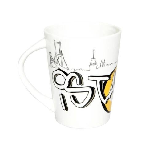 Kütahya Porselen Toledo 253911 Dekorlu İstanbul Kupası