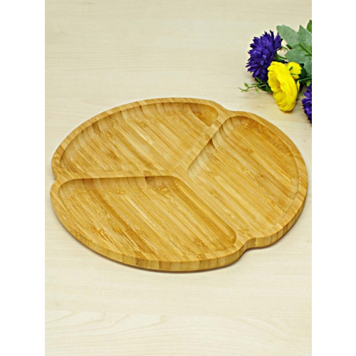 Kitchen Love Bambu 3 Bölmeli Yuvarlak Servis Tabak