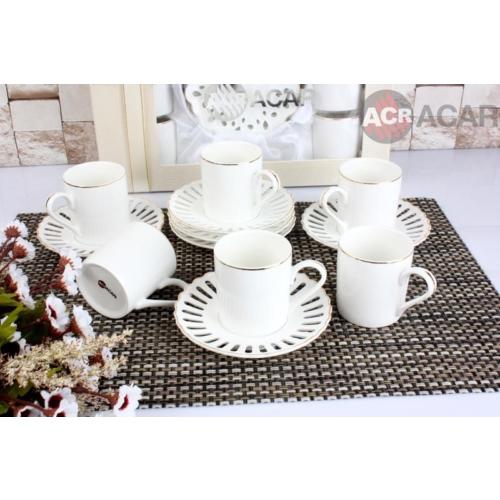 Acar Dantelli 6Lı Kahve Fincanı Seti