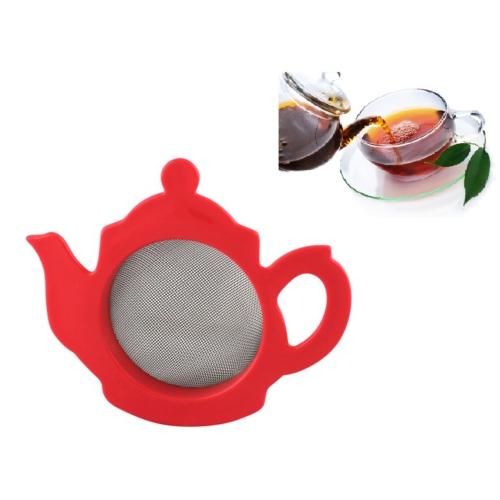Pratik Çaydanlık Şeklinde Sevimli Çay Süzgeci