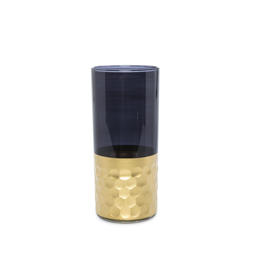 Beymen Home Khmissa Water Glass Tila Gold Smoke. D Gri Bardak