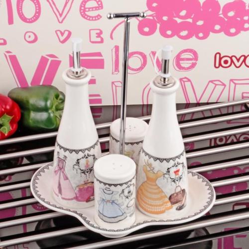 iHouse 8305 Porselen Yağlık Sirkelik Beyaz