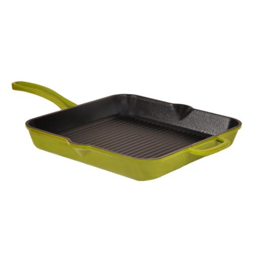 Hecha Grill Pan Döküm Tava 24 Cm Yeşil