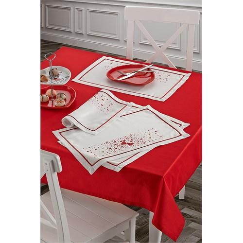 Keramika Masa Örtusu Kırmızı 140X140 / 322091