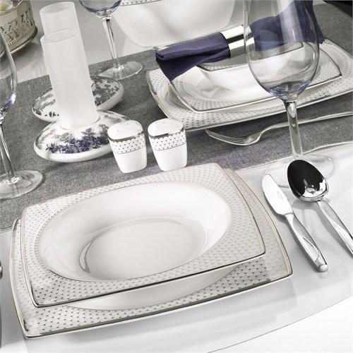 Kütahya Porselen Aliza Bone 83 Parça 66101 Desenli Yemek Takımı