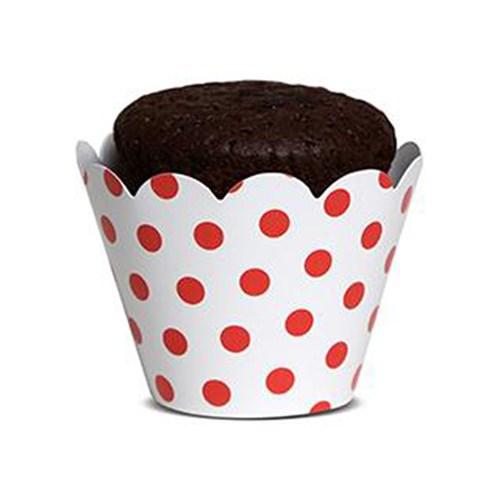 KullanAtMarket Kırmızı Puantiyeli Kek Tacı