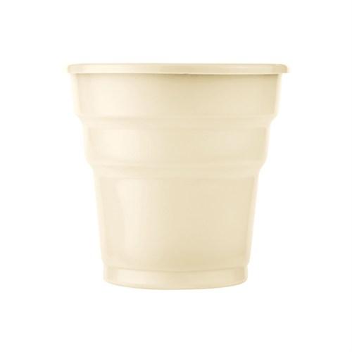 KullanAtMarket Krem Plastik Meşrubat Bardağı