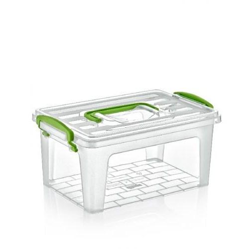 Dünya Plastik Kulplu Saklama Kabı - Kutusu 5,5 Lt.