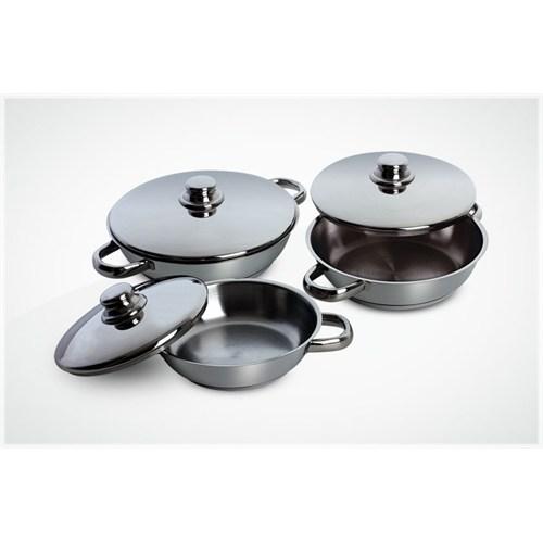 Gülsan Çakır 6 Parça Omlet Set Çelik Kapaklı